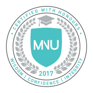 MNU Certified with Honours - Emblem