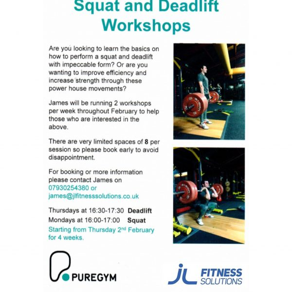Squat/Deadlift Workshop flyer