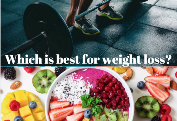 Exercise vs. Nutrition - which is best for weight loss